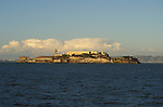 CA: Alcatraz, California, lighthouse, San Francisco Bay, 2005 .Image: caalcatraz102..Photo Copyright: Lee Foster, lee@fostertravel.com, www.fostertravel.com, (510) 549-2202.