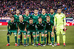Players of Real Betis Balompie line up and pose for photos prior to their La Liga 2016-17 match between Atletico de Madrid vs Real Betis Balompie at the Vicente Calderon Stadium on 14 January 2017 in Madrid, Spain. Photo by Diego Gonzalez Souto / Power Sport Images