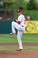 Springfield Cardinals starting pitcher Anthony Shew (31) during a Texas League game against the Amarillo Sod Poodles on April 25, 2019 at Hammons Field in Springfield, Missouri. Springfield defeated Amarillo 8-0. (Zachary Lucy/Four Seam Images)