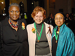 From left: Dr. Rhea Lawson, Michelle Mitchell and Velma Laws at the Great Women in Government reception sponsored by the Girl Scouts of San Jancinto Council at the Julia Idelson Library Wednesday  Nov. 18,2009. (Dave Rossman/For the Chronicle)