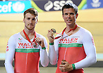 Wales Mens 1000m B2 Tandam Matthew Ellis and ride partner Ieuan Williams with there Bronze medals <br /> <br /> Photographer Ian Cook/Sportingwales<br /> <br /> 20th Commonwealth Games - Track Cycling -  Day 2 - Friday 25th July 2014 - Glasgow - UK