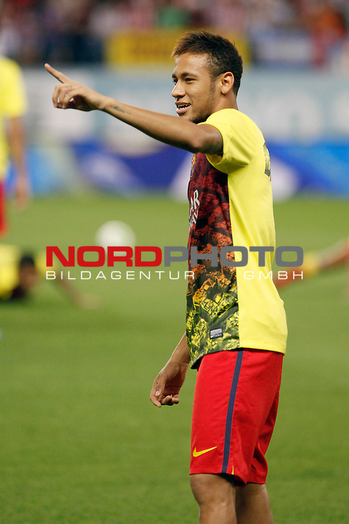 FC Barcelona's Neymar Santos Jr during Supercup of Spain 1st match.August 21,2013. Foto © nph / Victor Blanco)