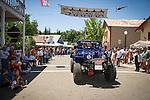 Independence Day celebration Main Street, Mokelumne Hill, California..Motherlode Rockcrawlers 4wd group