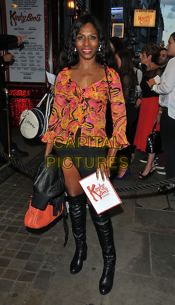 Sinitta at the &quot;Kinky Boots the Musical&quot; 1st London anniversary performance, The Adelphi Theatre, The Strand, London, England, UK, on Thursday 08 September 2016.<br /> CAP/CAN<br /> &copy;CAN/Capital Pictures