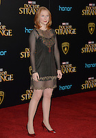 LOS ANGELES, CA. October 20, 2016: Molly Quinn at the world premiere of Marvel Studios' &quot;Doctor Strange&quot; at the El Capitan Theatre, Hollywood.<br /> Picture: Paul Smith/Featureflash/SilverHub 0208 004 5359/ 07711 972644 Editors@silverhubmedia.com