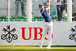 Pep Angles of Spain tees off the first hole during the 58th UBS Hong Kong Golf Open as part of the European Tour on 10 December 2016, at the Hong Kong Golf Club, Fanling, Hong Kong, China. Photo by Marcio Rodrigo Machado / Power Sport Images