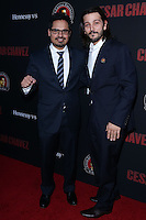 "HOLLYWOOD, LOS ANGELES, CA, USA - MARCH 20: Michael Pena, Diego Luna at the Los Angeles Premiere Of Pantelion Films And Participant Media's ""Cesar Chavez"" held at TCL Chinese Theatre on March 20, 2014 in Hollywood, Los Angeles, California, United States. (Photo by David Acosta/Celebrity Monitor)"