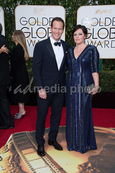 "Patrick Wilson, Golden Globe nominee for BEST PERFORMANCE BY AN ACTOR IN A MINI-SERIES OR MOTION PICTURE MADE FOR TELEVISION for his role in ""Fargo,"" and Dagmara Domińczyk arrive at the 73rd Annual Golden Globe Awards at the Beverly Hilton in Beverly Hills, CA on Sunday, January 10, 2016. Photo Credit: HFPA/AdMedia"
