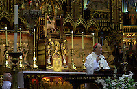 Montreal (qc) CANADA -June 2001 file Photo- Cardinal Jean-Claude Turcotte celebrate a special mass in Notre-Dame Basilica