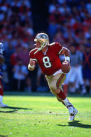 SAN FRANCISCO, CA - Quarterback Steve Young of the San Francisco 49ers in action during a game at Candlestick Park in San Francisco, California on November 1, 1998. Photo by Brad Mangin