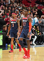 Isaac Bonga (G/F, Washington Wizards, #17) und Bradley Beal (G, Washington Wizards, #3) - 22.01.2020: Miami Heat vs. Washington Wizards, American Airlines Arena