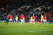 5th October 2017, Hampden Park, Glasgow, Scotland; FIFA World Cup Qualification, Scotland versus Slovakia; Slovakia team warms up