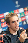FC Bayern Munchen's Philipp Lahm in press conference  after Champions League 2015/2016 Semi-Finals 1st leg match. April 26,2016. (ALTERPHOTOS/Acero)