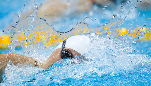 01 AUG 2012 - LONDON, GBR - Nastja Govejsek (SLO) of Slovenia races in her Women's 100m Freestyle heat during the morning session of the London 2012 Olympic Games Swimming at the Aquatic Centre in the Olympic Park, in Stratford, London, Great Britain .(PHOTO (C) 2012 NIGEL FARROW)
