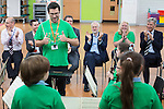© Joel Goodman - 07973 332324 . 27/09/2016 . Liverpool , UK . STEVE ROTHERAM and JEREMY CORBYN visits Faith Primary School in Liverpool , where they listen to and then joins in with the school orchestra . Photo credit : Joel Goodman