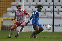 Brandon Thomas-Asante of Salford City and Joe Leesley of Stevenage during Stevenage vs Salford City, Sky Bet EFL League 2 Football at the Lamex Stadium on 15th February 2020