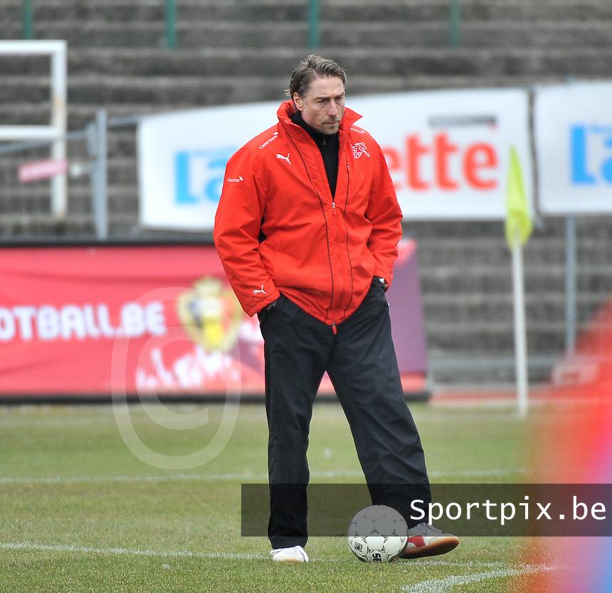 Belgium U19 - Switzerland U19 : Yannick Schwery (SUI) .foto DAVID CATRY / Nikonpro.be