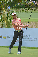 Hadi ABDUL (SIN) watches his tee shot on 2 during Rd 1 of the Asia-Pacific Amateur Championship, Sentosa Golf Club, Singapore. 10/4/2018.<br /> Picture: Golffile | Ken Murray<br /> <br /> <br /> All photo usage must carry mandatory copyright credit (&copy; Golffile | Ken Murray)