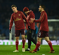 Arsenal's Laurent Koscielny (left) during pre-match warmup<br /> <br /> Photographer David Horton/CameraSport<br /> <br /> The Premier League - Brighton and Hove Albion v Arsenal - Wednesday 26th December 2018 - The Amex Stadium - Brighton<br /> <br /> World Copyright © 2018 CameraSport. All rights reserved. 43 Linden Ave. Countesthorpe. Leicester. England. LE8 5PG - Tel: +44 (0) 116 277 4147 - admin@camerasport.com - www.camerasport.com
