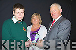OUTSTANDING: Padraig McCarthy (Lixnaw) of Causeway Comprehensive Secondry School, who was presented with the Outstanding Achievement Award by Maurice Leahy special guest at the Causeway Compreshenive Secondry School, Awards Night 2010 Thursday also in pic is Padraigs mother Ann McCarthy.................................................................... ........