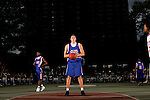 Cole Aldrich (45) prepares to shoot a free throw during the Elite 24 Hoops Classic game on September 1, 2006 held at Rucker Park in New York, New York.  The game brought together the top 24 high school basketball players in the country regardless of class or sneaker affiliation.