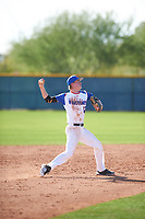 Shawn Triplett (12) of Ridgeline High School in Providence, Utah during the Baseball Factory All-America Pre-Season Tournament, powered by Under Armour, on January 14, 2018 at Sloan Park Complex in Mesa, Arizona.  (Zachary Lucy/Four Seam Images)