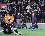 01.12.2012. Barcwelona, Spain. La Liga. Picture show Gerard Pique in action during match between FC Barcelona against Athletic at Camp Nou