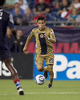 Philadelphia Union midfielder Roger Torres (20). The Philadelphia Union defeated New England Revolution, 2-1, at Gillette Stadium on August 28, 2010.