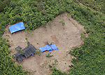 JPAC dig site is seen from the air near Ta Oy, Laos on Wednesday, November 7, 2012. (Star-Telegram/Khampha Bouaphanh)