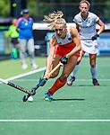 Den Bosch  - Kyra Fortuin (Ned)    tijdens  de Pro League hockeywedstrijd dames, Nederland-Belgie (2-0).    COPYRIGHT KOEN SUYK