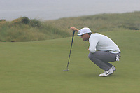 Lucas Bjerregaard (DEN) on the 6th green during Round 2 of the Irish Open at LaHinch Golf Club, LaHinch, Co. Clare on Friday 5th July 2019.<br /> Picture:  Thos Caffrey / Golffile<br /> <br /> All photos usage must carry mandatory copyright credit (© Golffile | Thos Caffrey)