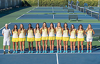 Cal Tennis W Portraits and Team Photo, September 26, 2016