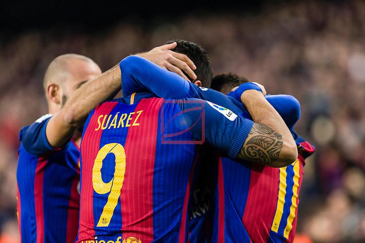League Santander 2016/2017. Game: 14.<br /> FC Barcelona vs Real Madrid: 1-1.