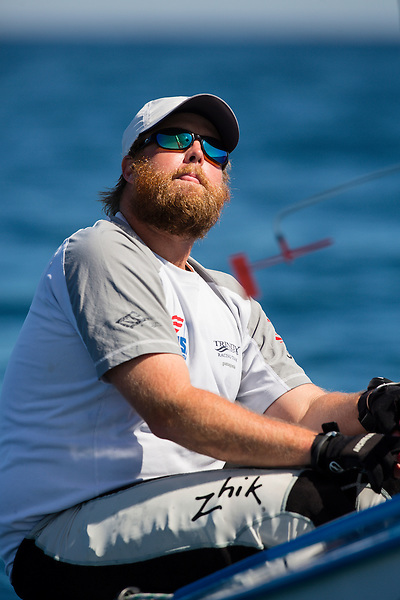 SANTANDER, SPAIN - SEPTEMBER 14:  Finn - USA69 - John F Dane in action during Day 4 of the 2014 ISAF Sailing World Championships on September 15, 2014 in Santander, Spain.  (Photo by MickAnderson/SAILINGPIX via Getty Images)
