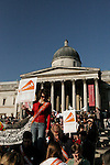 I Count Stop Climate Chaos Rally, Trafalgar Square London 4 November 2006