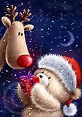 Roger, CHRISTMAS ANIMALS, WEIHNACHTEN TIERE, NAVIDAD ANIMALES, paintings+++++,GBRM0340,#XA#