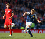 Stuart Armstrong tests the keeper