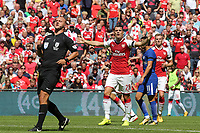 Granit Xhaka of Arsenal appeals for a free-kick during Arsenal vs Chelsea, FA Community Shield Football at Wembley Stadium on 6th August 2017