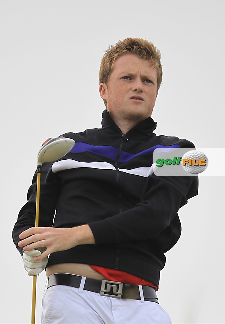 Adam Doran (Ardee) on the 16th tee during Round 2 of the East of Ireland Amateur Open Championship sponsored by City North Hotel at Co. Louth Golf club in Baltray on Sunday 5th June 2016.<br />