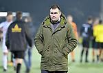 2018-02-17 / voetbal / seizoen 2017-2018 / Oosterzonen - Berchem / Coach Stijn Geys (Oosterzonen) verlaat ontgoochelt het terrein nadat zijn ploeg thuis verloren heeft van Berchem