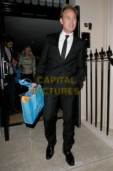 """JASON DONOVAN .Attending Kathy Lette's """"To Love, Honour and Betray"""" book launch party, London, England, September 24th 2008..full length black suit tie .CAP/AH.©Adam Houghton/Capital Pictures"""