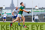 Dara Moynihan  Kerry in action against Gavin Doogan Monaghan during the Allianz Football League Division 1 Round 5 match between Kerry and Monaghan at Fitzgerald Stadium in Killarney, on Sunday.