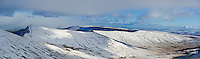 Cribyn and ridge in winter, Brecon Beacons national park, Wales