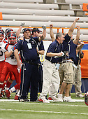 North Tonawanda Lumberjacks varsity football against New Rochelle Huguenots during the NYSPHSAA Class-AA State Championship game at the Carrier Dome on November 29, 2009 in Syracuse, New York.  North Tonawanda defeated New Rochelle 14-7.  (Copyright Mike Janes Photography)