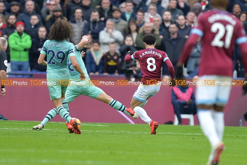 Felipe Anderson shoots wide during West Ham United vs Arsenal, Premier League Football at The London Stadium on 12th January 2019
