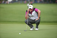 Marcus Fraser (AUS) in putting action during the Final Round of the British Masters 2015 supported by SkySports played on the Marquess Course at Woburn Golf Club, Little Brickhill, Milton Keynes, England.  11/10/2015. Picture: Golffile | David Lloyd<br /> <br /> All photos usage must carry mandatory copyright credit (© Golffile | David Lloyd)