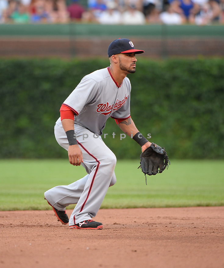 Washington Nationals Ian Desmond (20) during a game against the Chicago Cubs on June 27, 2014 at Wrigley Field in Chicago, IL. The Cubs beat the Nationals 7-2.