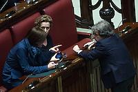 Renata Polverini, Renato Brunetta e Deborah Bergamini<br /> Roma 23-04-2014 Camera. Voto di fiducia sul Decreto DL Lavoro.<br /> Trust vote on job laws<br /> Photo Samantha Zucchi Insidefoto