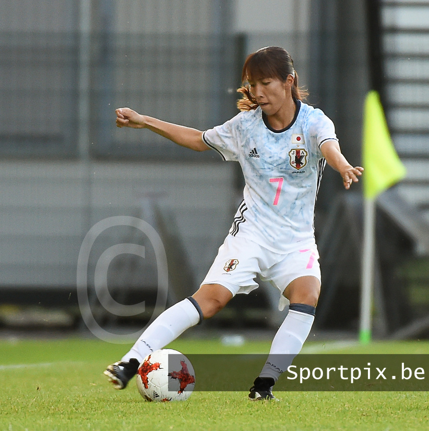 20170613 - LEUVEN ,  BELGIUM : Japanese Emi Nakajima pictured during the female soccer game between the Belgian Red Flames and Japan , a friendly game before the European Championship in The Netherlands 2017  , Tuesday 13 th Juin 2017 at Stadion Den Dreef  in Leuven , Belgium. PHOTO SPORTPIX.BE | DIRK VUYLSTEKE