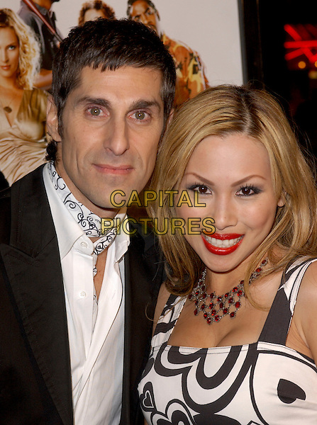 "PERRY FARRELL & WIFE.Attends MGM's World Premiere of ""Be Cool"" held at The Grauman's Chinese Theatre in Hollywood, California, USA, February 14th 2005.portrait headshot.Ref: DVS.www.capitalpictures.com.sales@capitalpictures.com.©Capital Pictures."